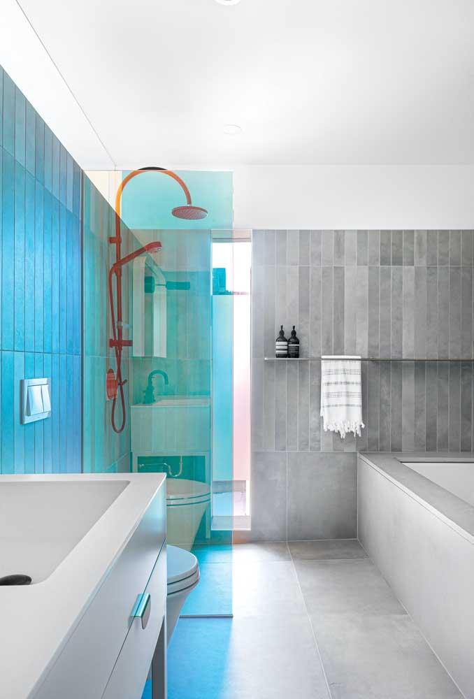 Já pensou ter um banheiro iridescente?
