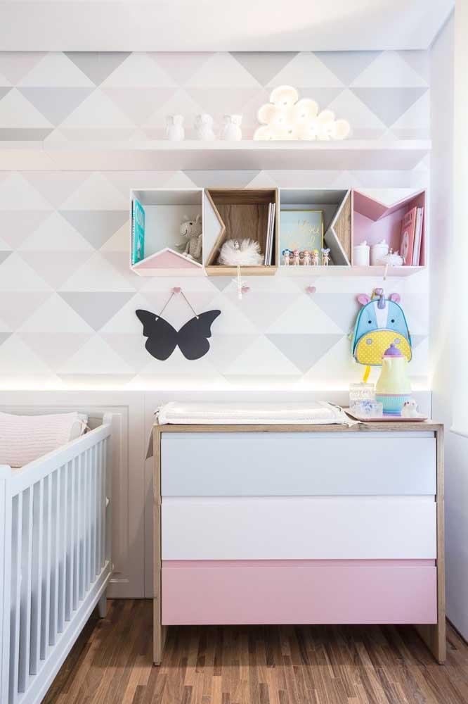 Nichos para o quarto de bebê coloridos e criativos