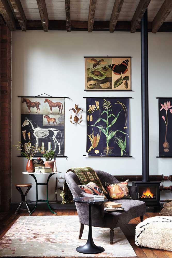 Quadros vintage com inspiração botânica