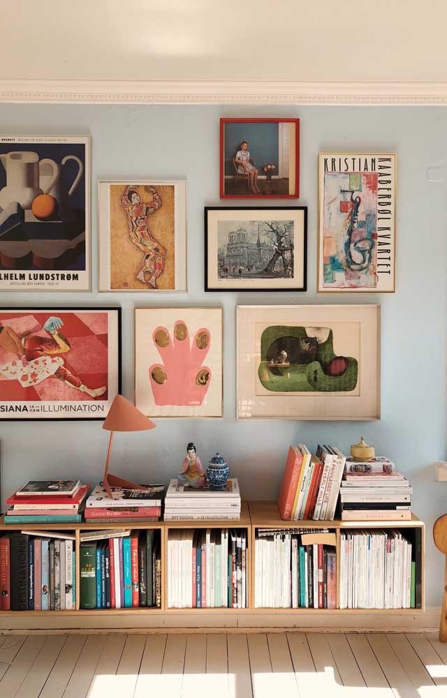 Quadros vintage com releituras de obras famosas