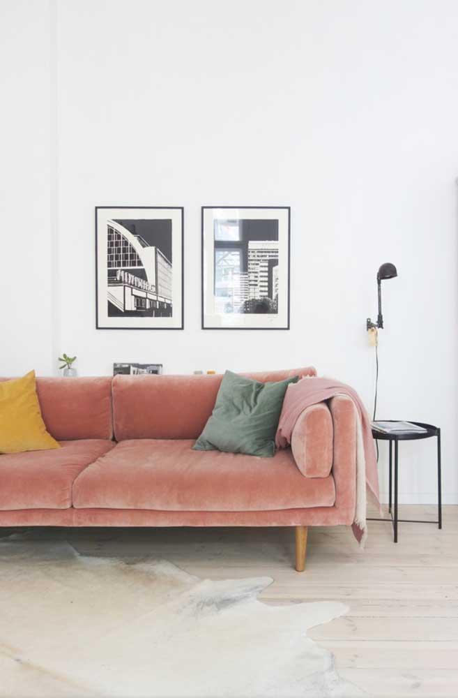 O estilo minimalista também se dá bem com os quadros vintage