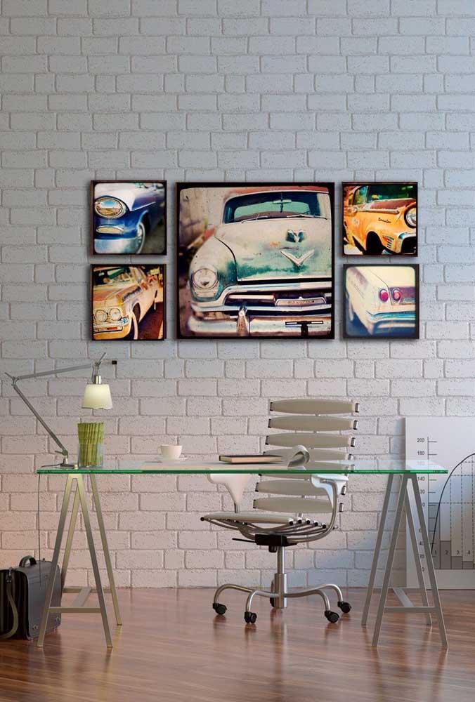 Carros antigos são ótimos temas para quadros vintage