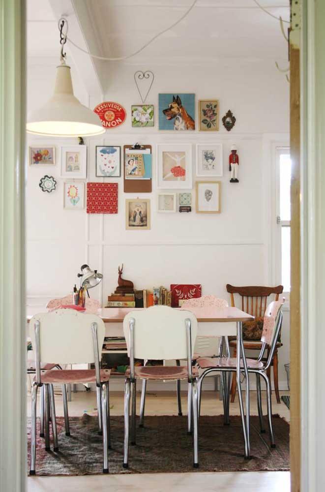 Quadros vintage para sala de jantar combinando com o restante da decoração