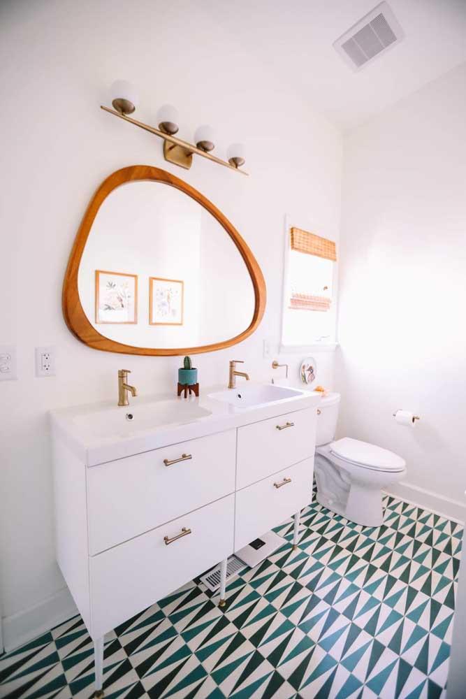 Piso para banheiro com um belo efeito visual