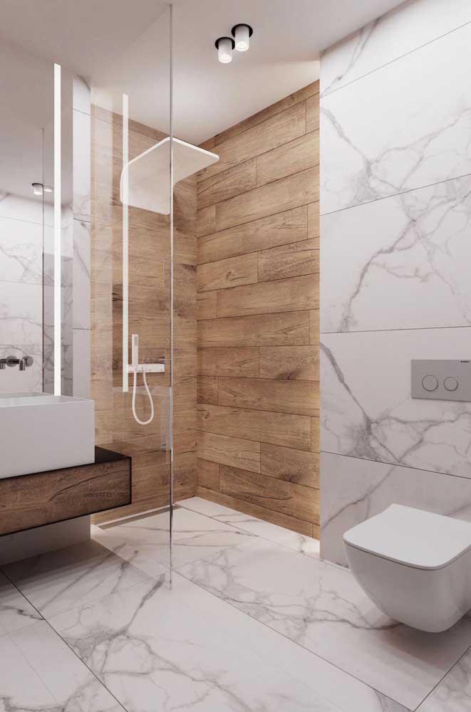 Piso de mármore para o banheiro: elegância e glamour