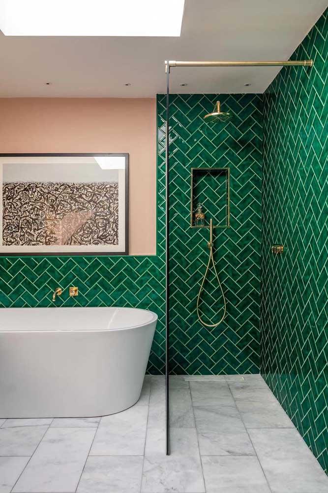 Piso de mármore para um banheiro moderno e de personalidade