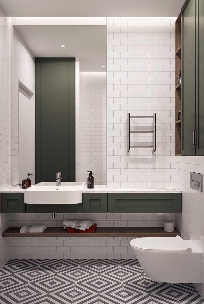 Azulejo preto e branco para o banheiro moderno
