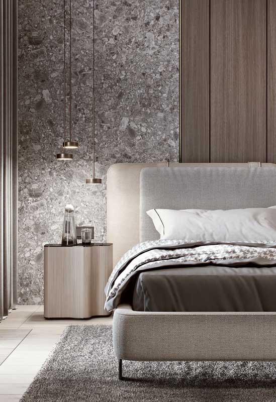 A iluminação é tudo num projeto de quarto de casal de luxo!