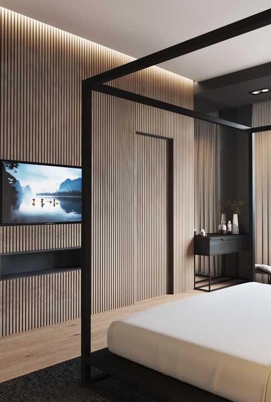 Quarto de casal de luxo moderno e com cama dossel