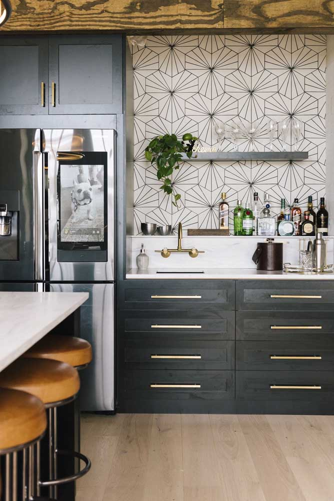 Azulejo para cozinha com design moderno e minimalista