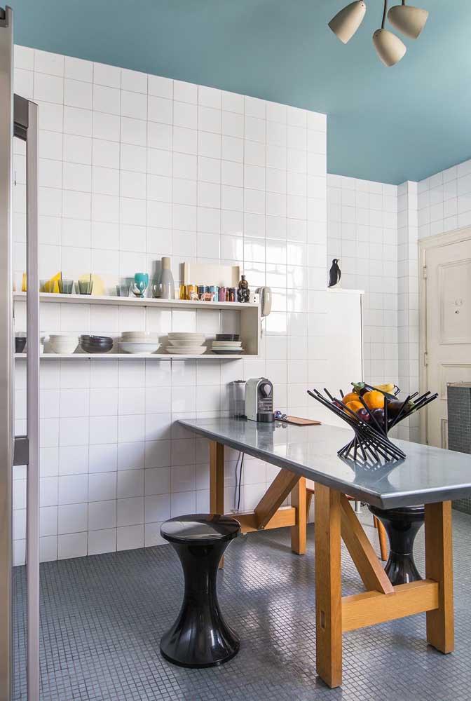 Azulejo branco e simples para cozinha: nada como um clássico para estar sempre na moda