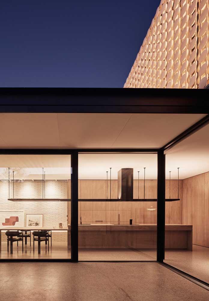Integração interna e externa: outra forte característica das casas modernas