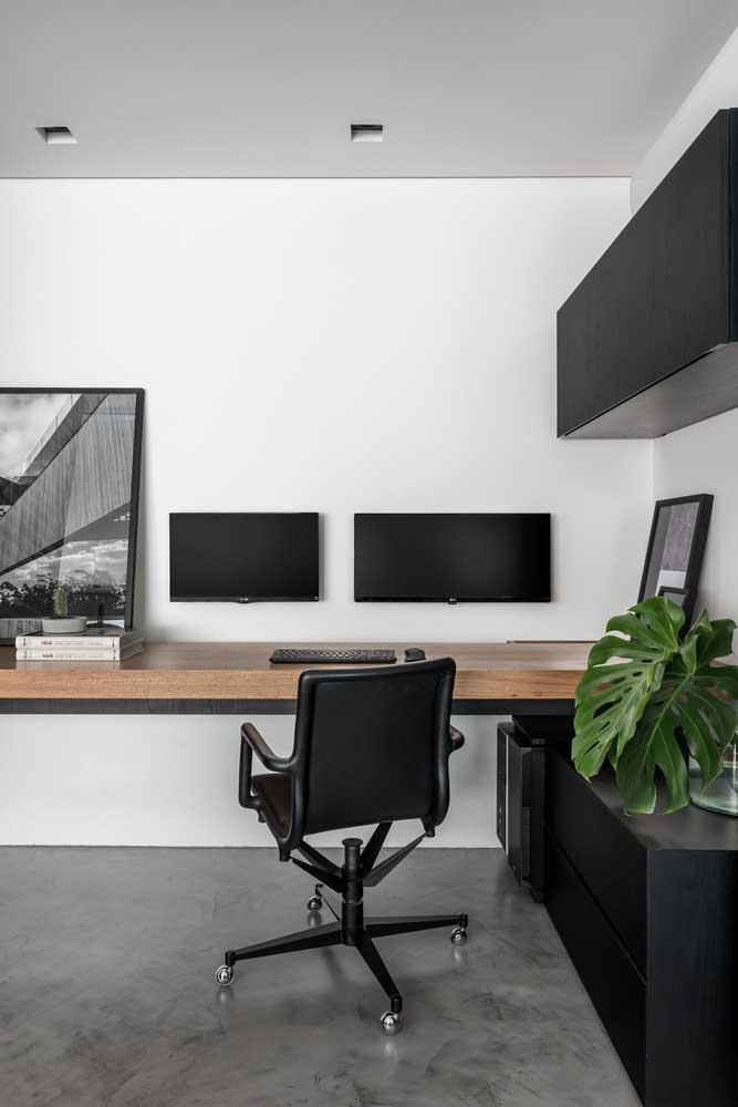 Escritório moderno, confortável, funcional e super elegante