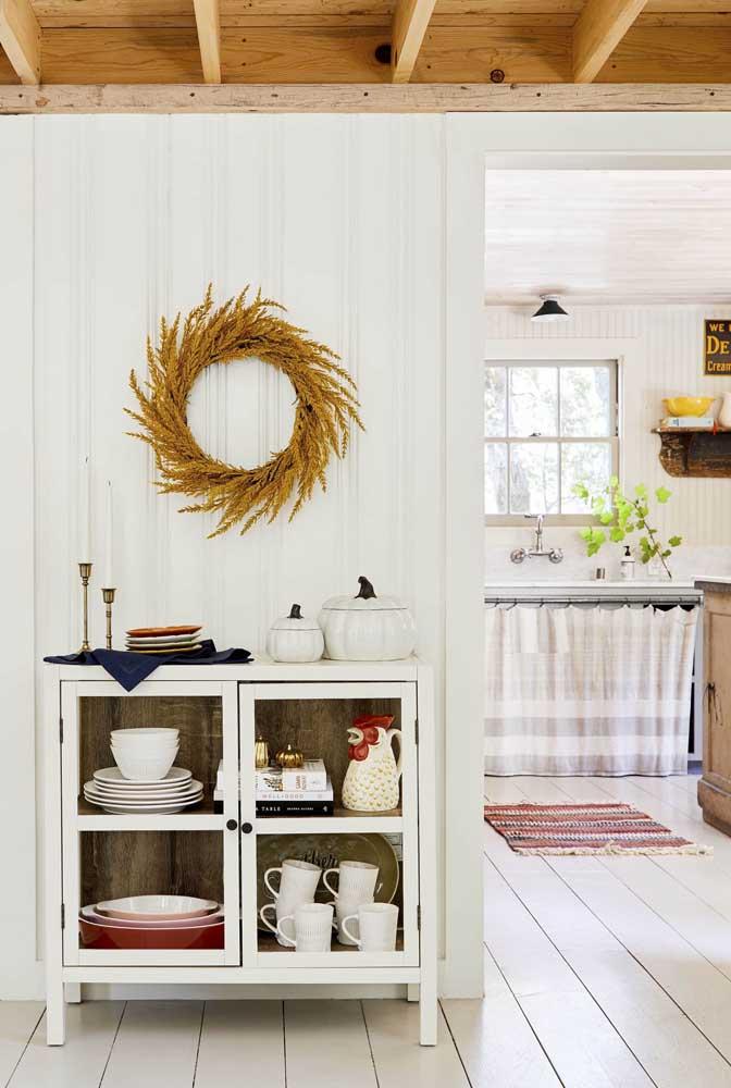 Uma cozinha rústica pra lá de fofa!
