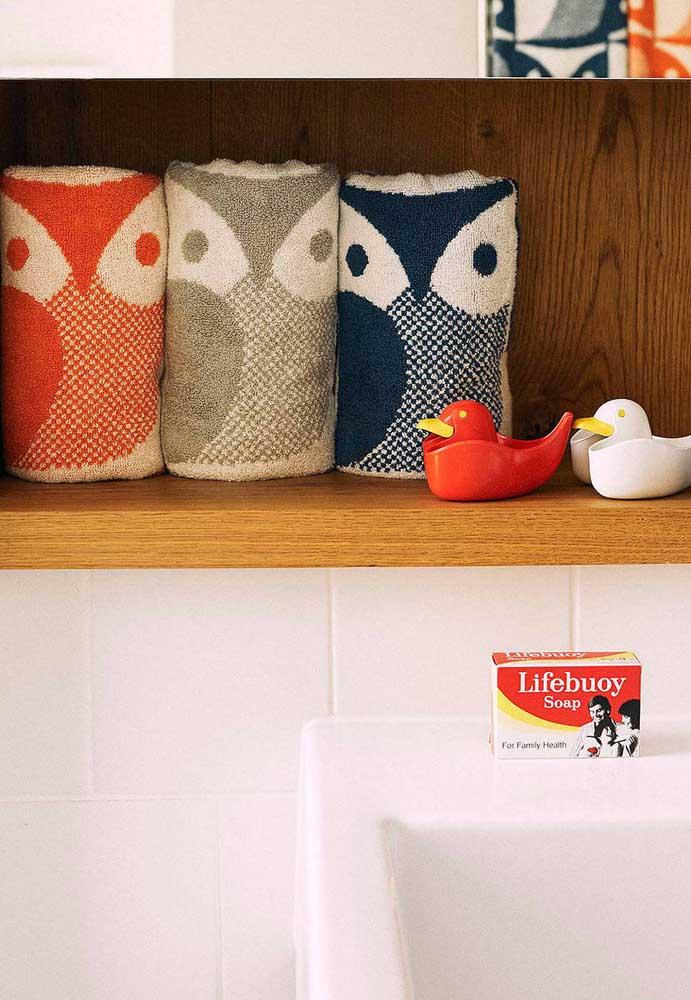 E se as próprias toalhas fossem estampadas com corujas?
