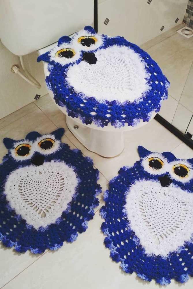 Para quem possui habilidades em crochê, o jogo de coruja pode ser feito da cor que quiser