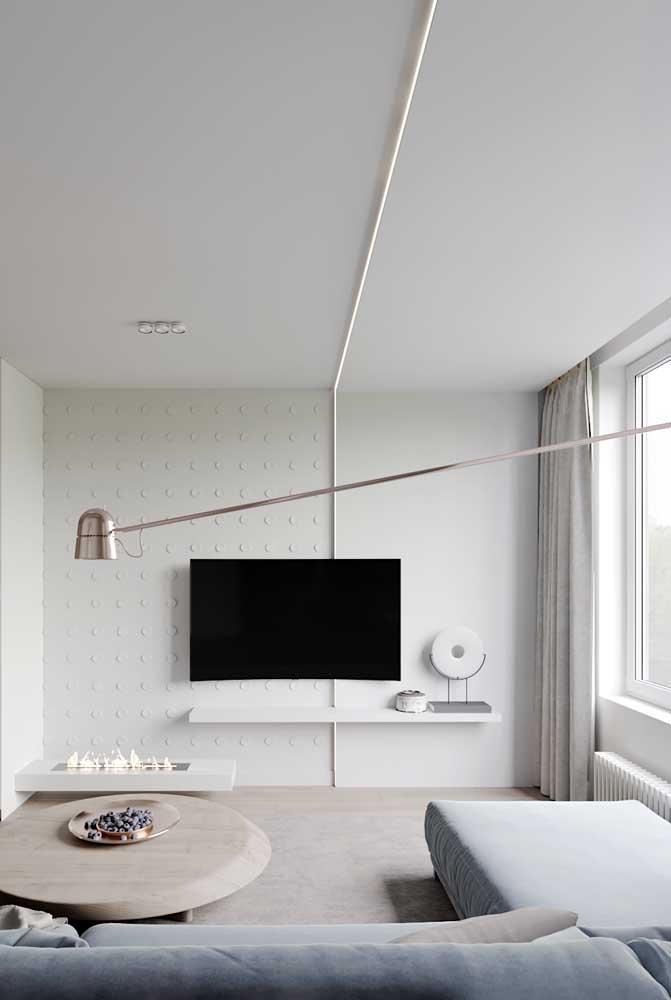 E o que acha de uma luminária capaz de atravessar toda a sala?