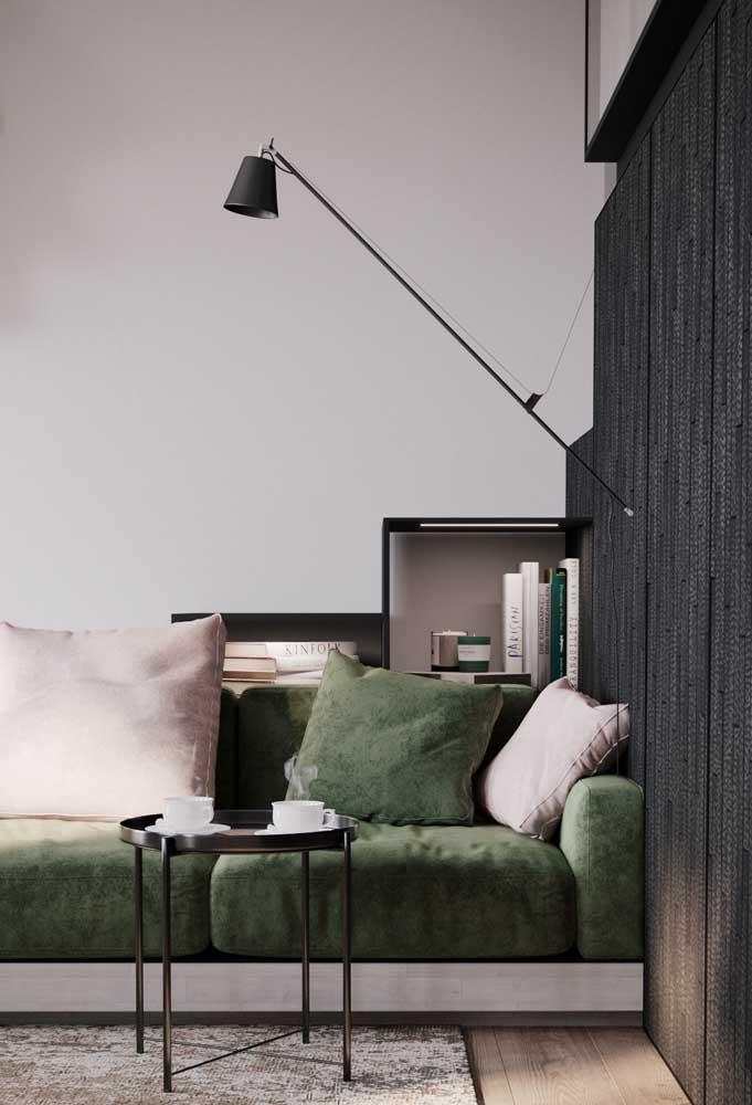 Luminária de parede para sala com foco de luz direcionável