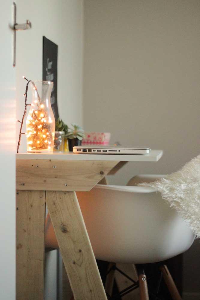 Escrivaninha de pallet para o quarto