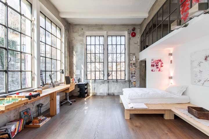 Um cômodo todo feito com móveis de pallet