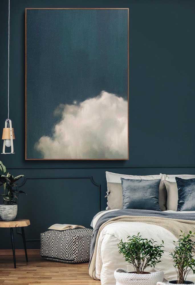 Azul igual a parede!