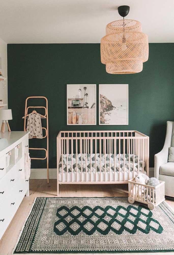 Quadro para quarto de bebê com tema de paisagem. Bem diferente do habitual!