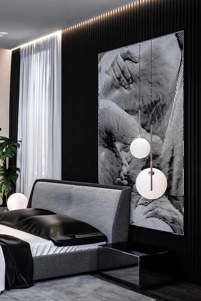 Um super quadro para um quarto moderno e cheio de personalidade