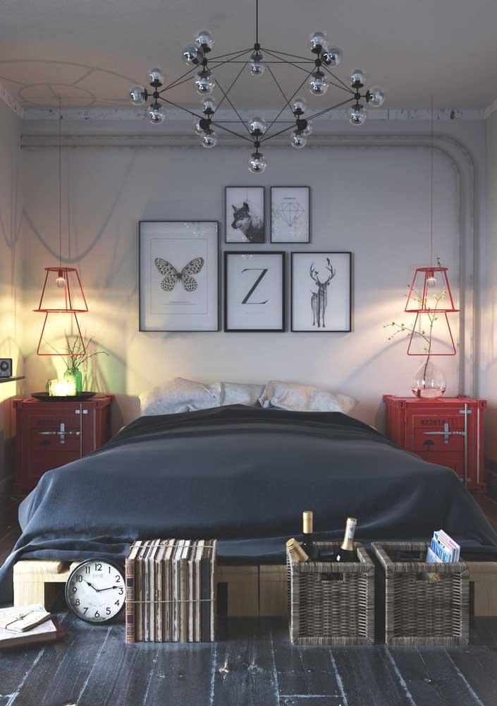 Composição moderna de quadros para o quarto jovem