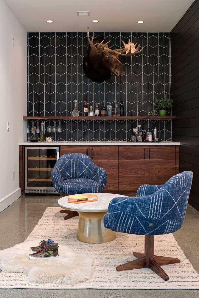 Barzinho para sala de estar feito sob medida