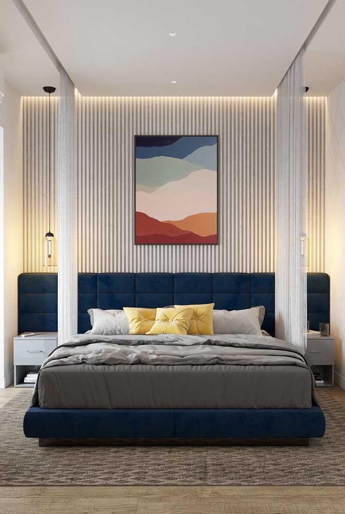 Azul e branco: combinação clássica para decoração de quartos