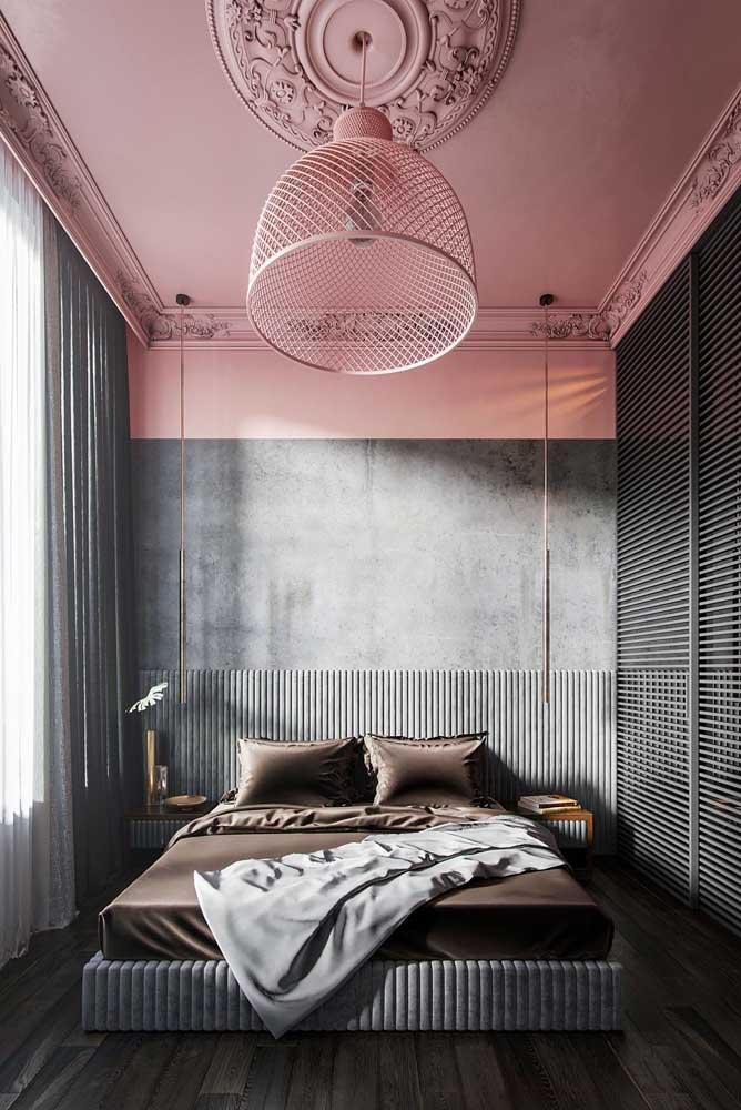 Rosa e cinza para um quarto cheio de personalidade