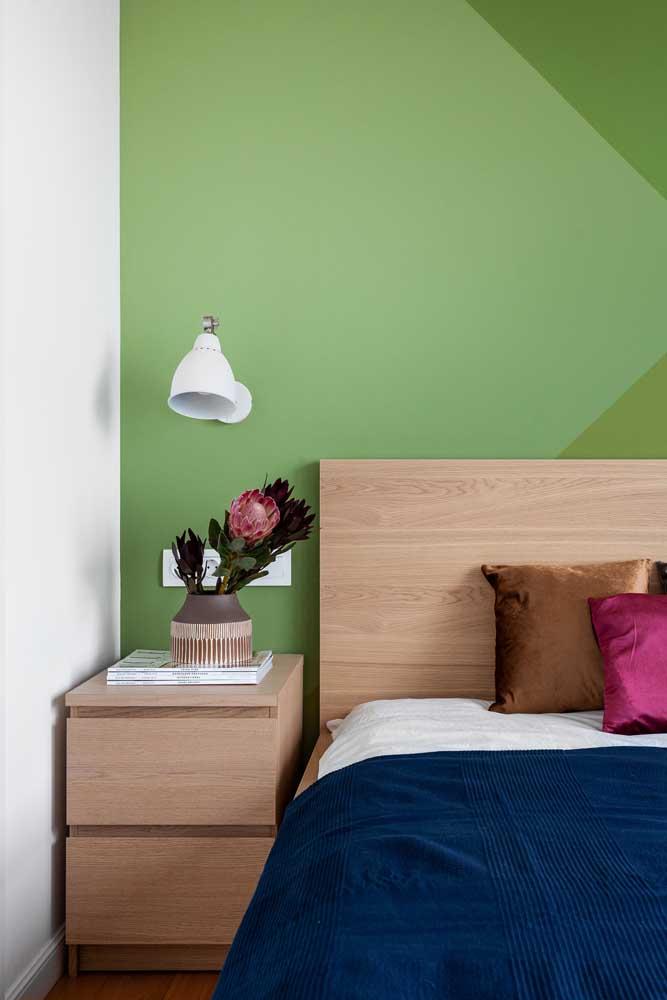 Que tal uma parede geométrica verde?