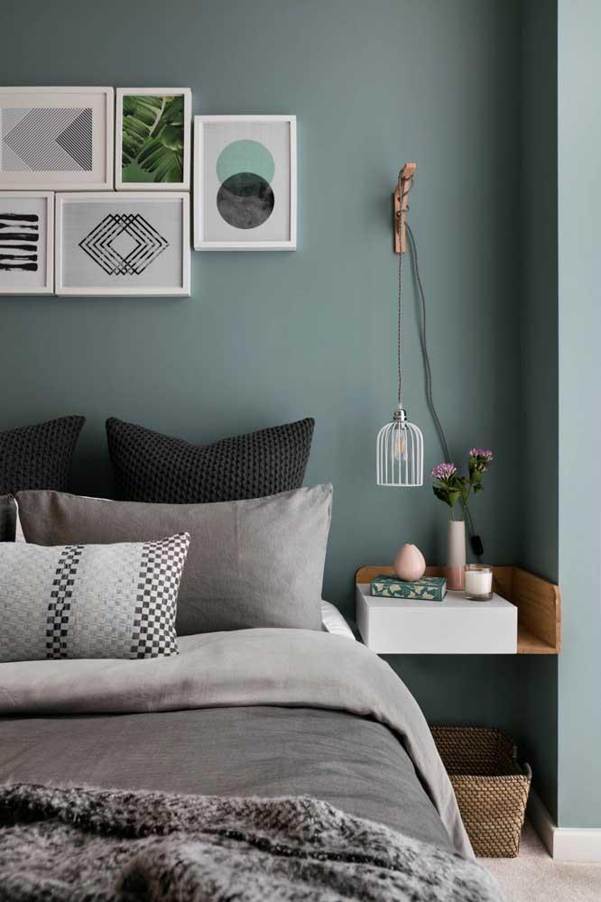Azul e cinza para uma composição moderna