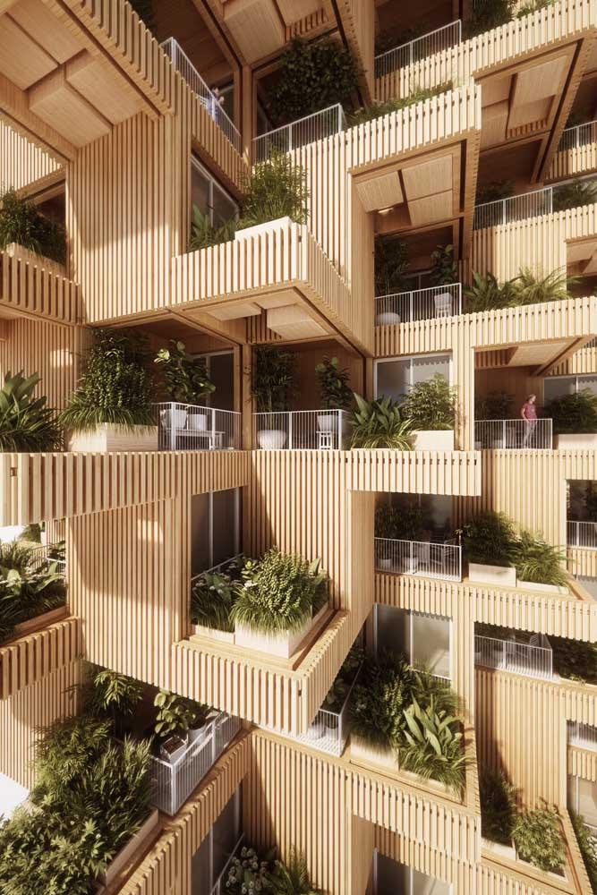 Para os apartamentos a dica é investir em jardins verticais