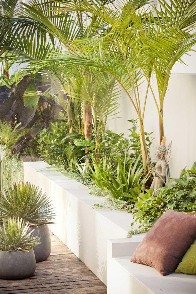 Decoração de jardim moderno com influência da estética japonesa