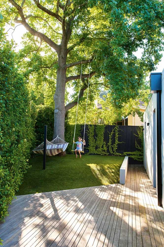Jardim combina com diversão e descanso!