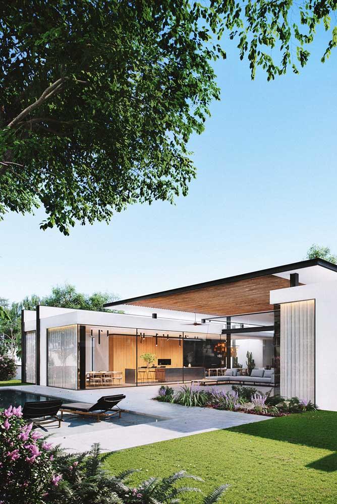 Jardim moderno, minimalista e funcional