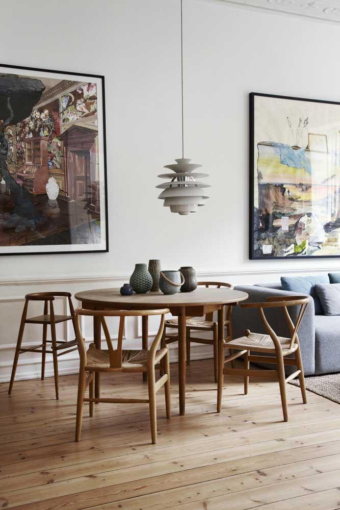 Decoração de sala de jantar e estar juntas: harmonia nas cores