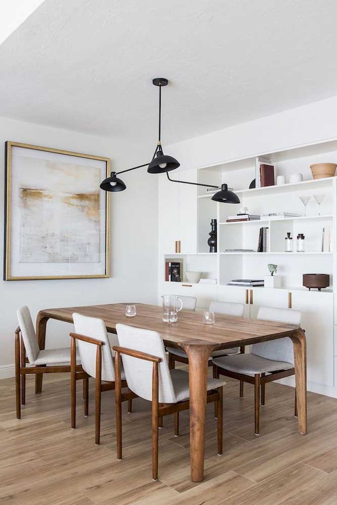 E o que acha de uma sala de jantar com toque escandinavo?