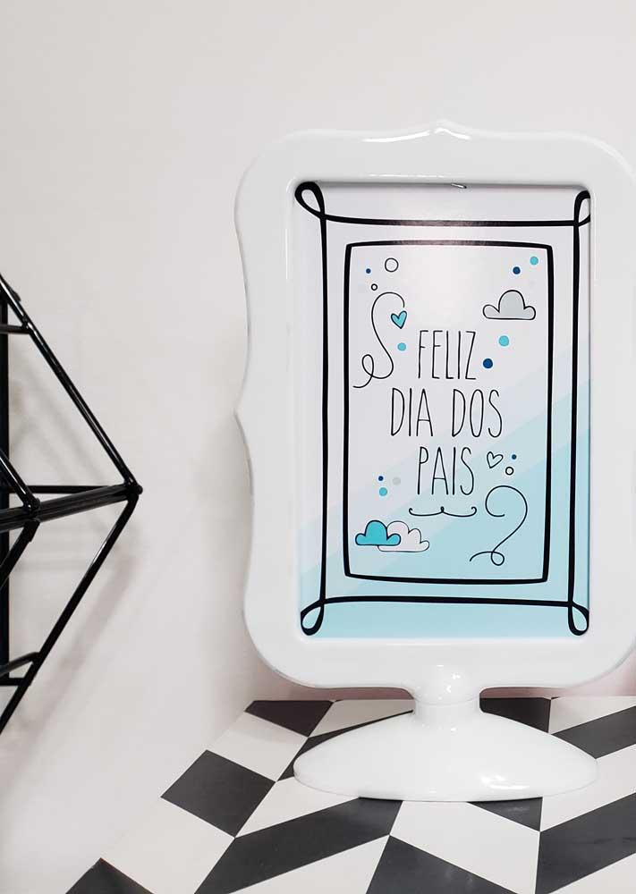 Quadro personalizado para decorar a casa durante a comemoração do dia dos pais
