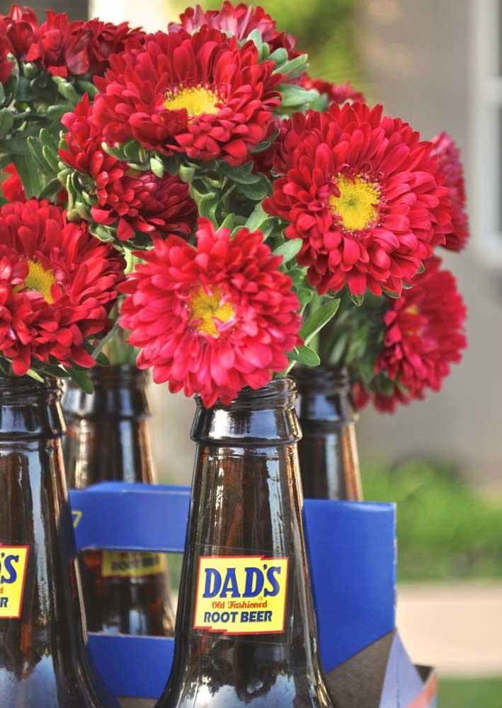 Flores e cerveja