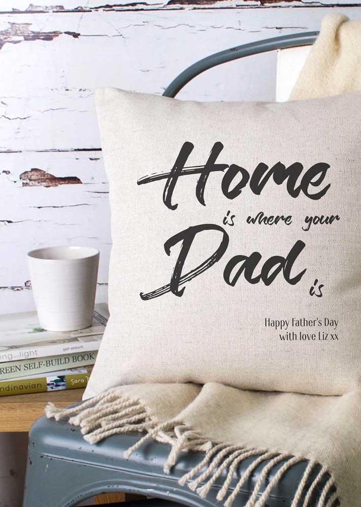 Já pensou em almofadas personalizadas para o dia dos pais? Pois deveria!