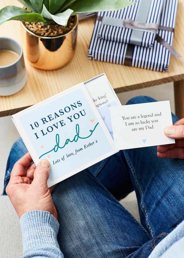Dez motivos para amar o seu pai: que tal escrever e mostrar pra ele?