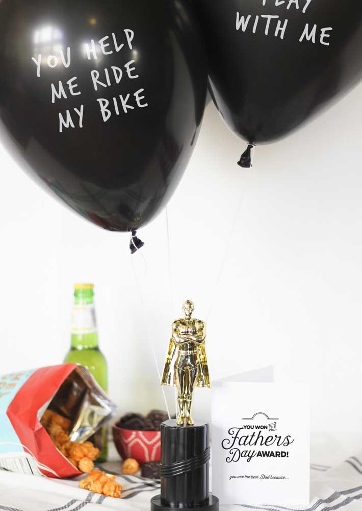 Para o melhor pai do mundo, um Oscar!