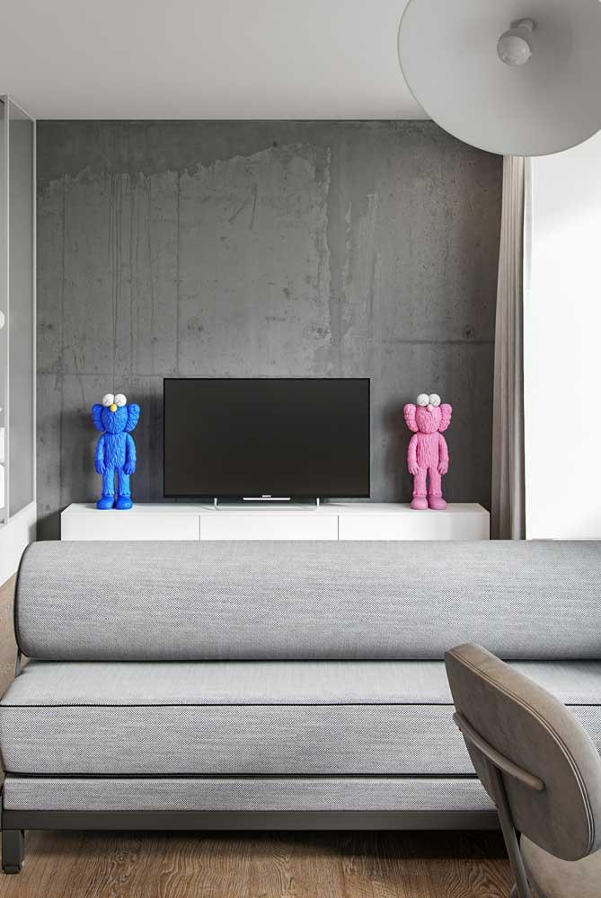 Um par de anjos fofos para descontrair a sala moderna