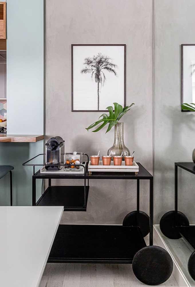 Decore a sala com um cantinho do café