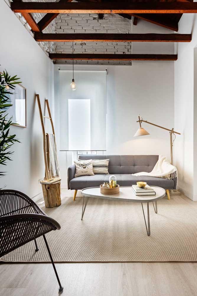 Enfeites rústicos para criar um clima aconchegante na sala de estar