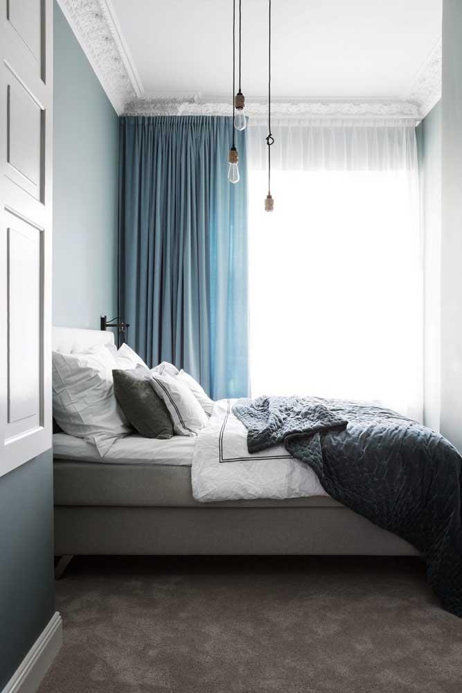 Luminárias pendentes simples para um quarto elegante