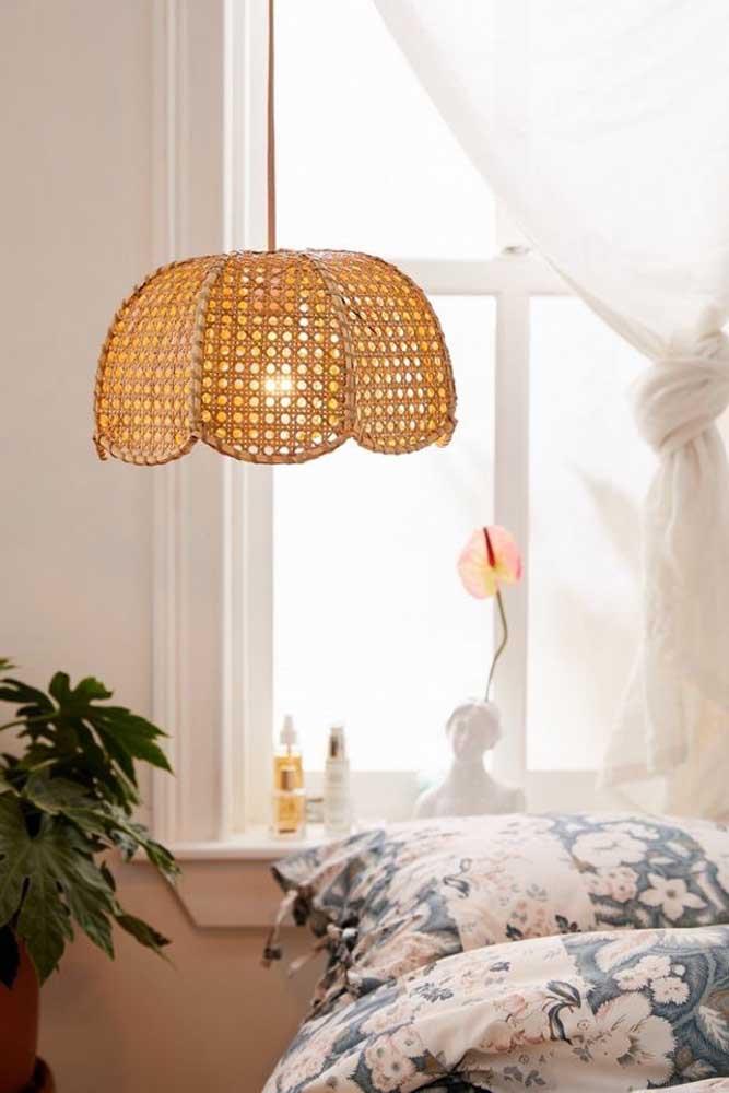 """Luminária de fibra natural para """"aquecer"""" ainda mais o ambiente"""