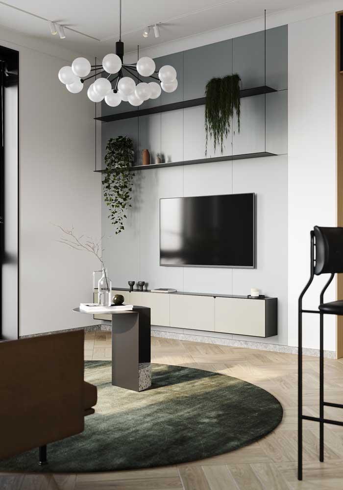 Bolas de luz na sala de estar